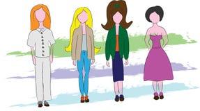 Ayuna el bosquejo de la moda libre illustration