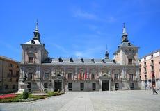 Ayuntamento municipality building at Plaza de la Villa The City Square in Madrid, Spain Royalty Free Stock Photography