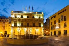 Ayuntamiento在Castellon de la Plana,西班牙 库存照片