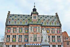 Ayuntamiento adornado para el carnaval anual de Halle Foto de archivo