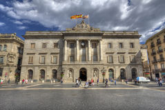 Ayuntamiento Barcelona Imagenes de archivo