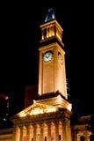 Ayuntamiento Brisbane en la noche Imagen de archivo