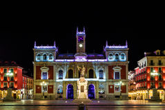 Ayuntamiento de Βαγιαδολίδ, αίθουσα πόλεων και κύριο τετράγωνο Στοκ εικόνες με δικαίωμα ελεύθερης χρήσης