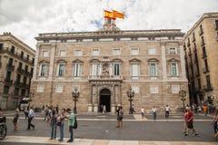 Ayuntamiento de Barcelona, España Foto de archivo