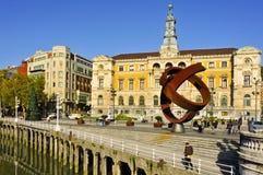 Ayuntamiento de Bilbao, España Foto de archivo