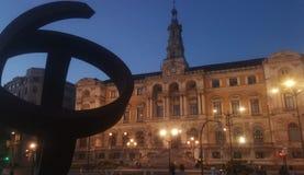 Ayuntamiento de Bilbao Vizcaya Spanien royaltyfria foton