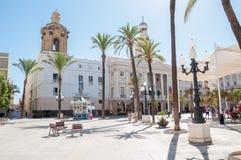 Ayuntamiento de Cádiz Imagen de archivo libre de regalías