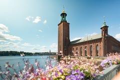 Ayuntamiento de Estocolmo en Suecia imagen de archivo libre de regalías