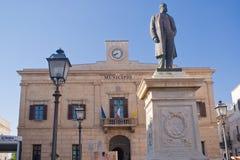 Ayuntamiento de Favignana, Italia Imagen de archivo libre de regalías