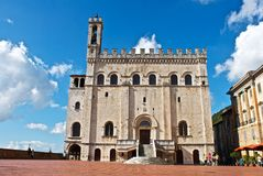 Ayuntamiento de Gubbio - Perugia Foto de archivo libre de regalías