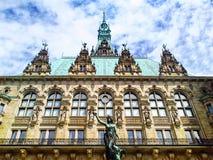 Ayuntamiento de Hamburgo - Rathaus alemania imagenes de archivo