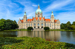 Ayuntamiento de Hannover, Alemania Foto de archivo libre de regalías