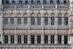 Ayuntamiento de la fachada Bruselas, Bélgica Imagen de archivo libre de regalías