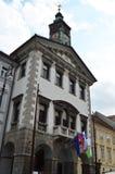 ayuntamiento de Ljubljana en Eslovenia Imagen de archivo libre de regalías