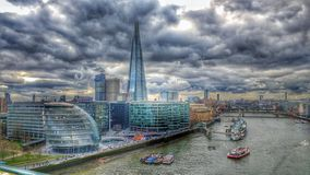 Ayuntamiento de Londres thames el casco Imagen de archivo