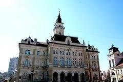 Ayuntamiento de Novi Sad a partir de 1895 año Imagen de archivo libre de regalías