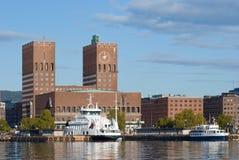 Ayuntamiento de Oslo, Noruega imágenes de archivo libres de regalías