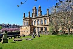 Ayuntamiento de Paisley con el reloj y el campanario renfrewshire Escocia Imágenes de archivo libres de regalías
