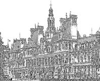 Ayuntamiento de París Fotos de archivo libres de regalías