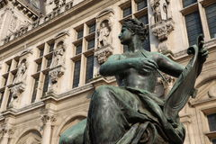 Ayuntamiento de París fotografía de archivo