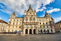 Ayuntamiento de Rathaus Graz Austria Fotografía de archivo libre de regalías