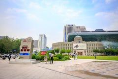 Ayuntamiento de Seul el 19 de junio de 2017 en la capital de la Corea del Sur Imagen de archivo libre de regalías
