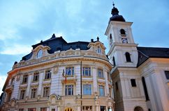 Ayuntamiento de Sibiu Fotos de archivo libres de regalías