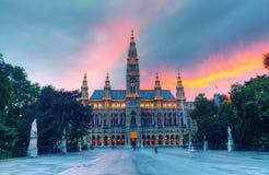 Ayuntamiento de Viena Imagen de archivo libre de regalías