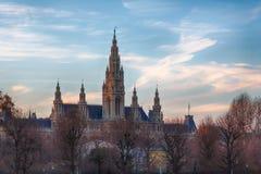 Ayuntamiento de Viena imagen de archivo