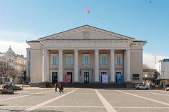 Ayuntamiento de Vilna, Lituania foto de archivo