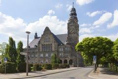 Ayuntamiento de Wittenberge imágenes de archivo libres de regalías