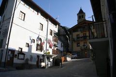 Ayuntamiento del municipio de Argentera, Bersezio, montañas marítimas (28 de julio de 2013) Foto de archivo