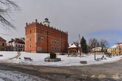 Ayuntamiento del renacimiento i Sandomierz Fotografía de archivo libre de regalías