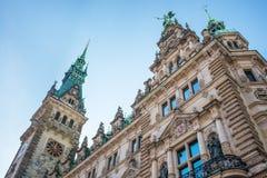 Ayuntamiento del turismo de Hamburgo imagen de archivo