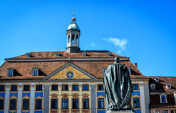 Ayuntamiento el renacimiento en Coburgo, Alemania Fotografía de archivo libre de regalías