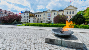 Ayuntamiento en Bydgoszcz Foto de archivo