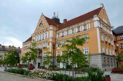 Ayuntamiento en el Cesky Tesin fotos de archivo libres de regalías
