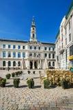 Ayuntamiento en el cuadrado de ayuntamiento en Riga Fotos de archivo libres de regalías