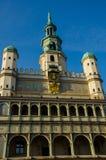 """Ayuntamiento en el """"de PoznaÅ, Polonia foto de archivo"""