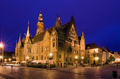 Ayuntamiento en el Wroclaw Imagen de archivo libre de regalías