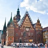 Ayuntamiento en el Wroclaw, Polonia foto de archivo
