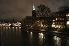 Ayuntamiento en Estocolmo Foto de archivo