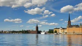 Ayuntamiento en Estocolmo almacen de metraje de vídeo