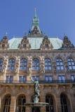 Ayuntamiento en Hamburgo fotografía de archivo