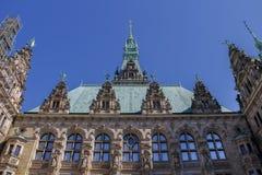 Ayuntamiento en Hamburgo imagen de archivo libre de regalías