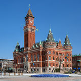 Ayuntamiento en Helsingborg, Suecia Imagenes de archivo