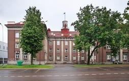 Ayuntamiento en Johvi Estonia imagen de archivo libre de regalías