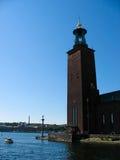 Ayuntamiento en Kungsholmen imagen de archivo libre de regalías