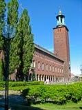 Ayuntamiento en Kungsholmen (Estocolmo, Suecia) imágenes de archivo libres de regalías