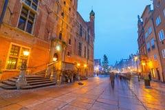 Ayuntamiento en la ciudad vieja de Gdansk Imagen de archivo libre de regalías